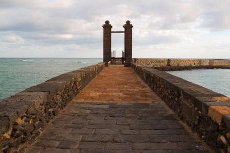 Krajobraz wybrzeża od wyspie Lanzarote, Hiszpania Zdjęcie Seryjne