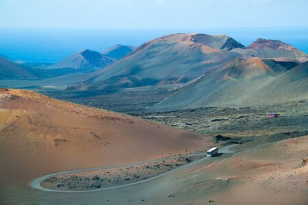 Volcanic landscape from Timanfaya, Lanzarote island, Spain