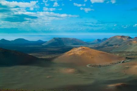 Wulkaniczny krajobraz z Timanfaya, Lanzarote Island, Hiszpania