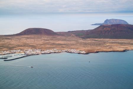 Coastal landscape from Lanzarote island, Spain