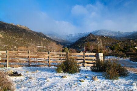 Górski krajobraz z Madrid, Hiszpania Zdjęcie Seryjne