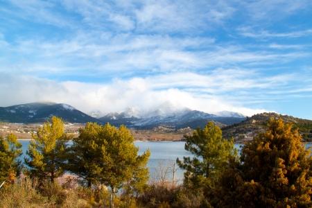 Górski krajobraz z Madrid, Hiszpania