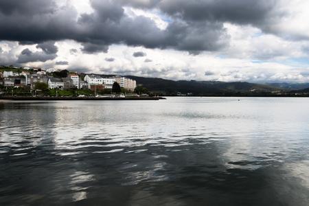 Krajobraz wybrzeża od wybrzeża Galicji, hiszpania
