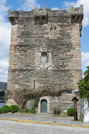 Pontedeume Wieża Andrade, Galicja, Hiszpania Zdjęcie Seryjne