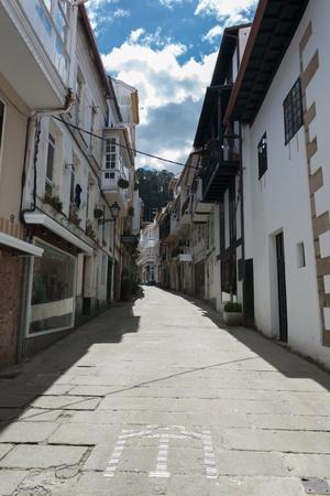 Narrow street of madrid, Spain
