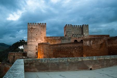 Alhambra of Granada, night view