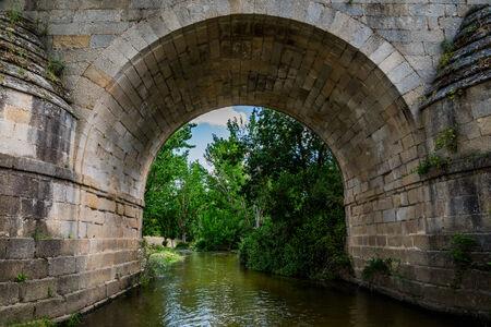 under a Roman bridge