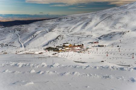 sierra: Sierra Nevada winter resort Stock Photo