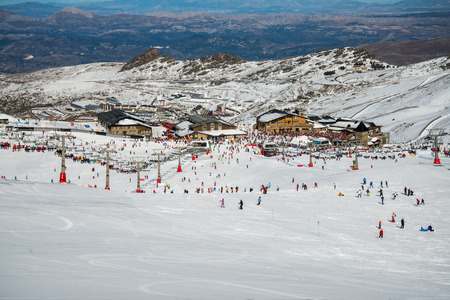 Sierra Nevada winter resort Standard-Bild