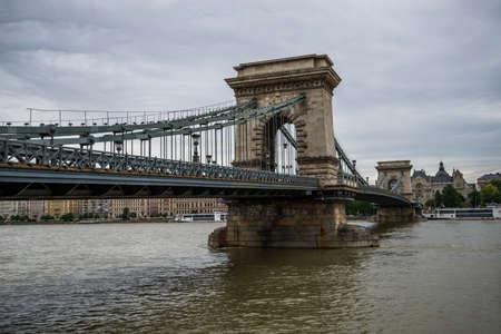 Budapest Chain Bridge. Zdjęcie Seryjne