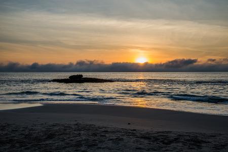Sea sunset in Torrevieja beach.