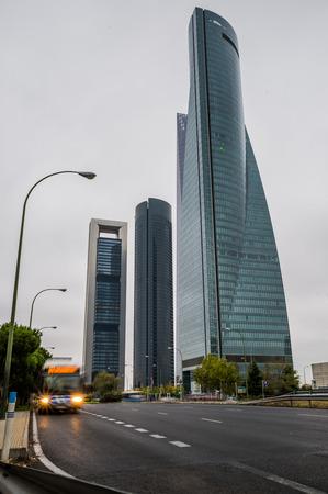 Madrid skyscrapers.Spain.