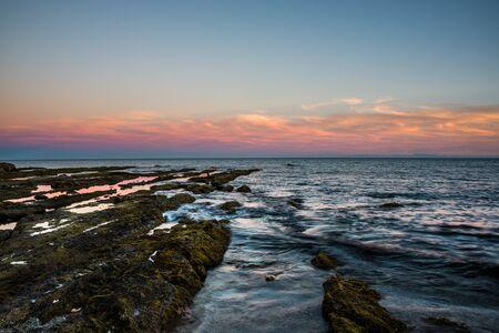 Sunset landscape in Spanish coast