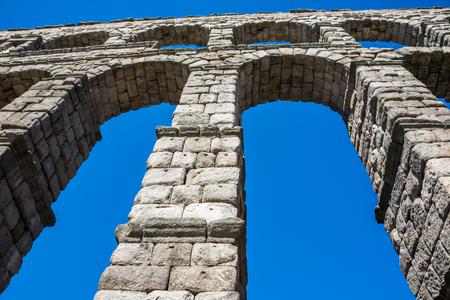 antique roman aqueduct in Segovia, Castilla y Leon, Spain Stock Photo - 67558590