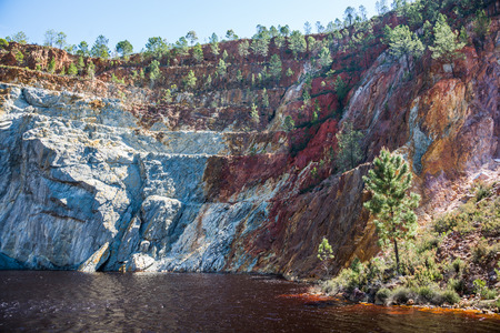 Minas of Río Tinto (formerly British mining), Andalusia, Spain. Stock Photo - 92662648