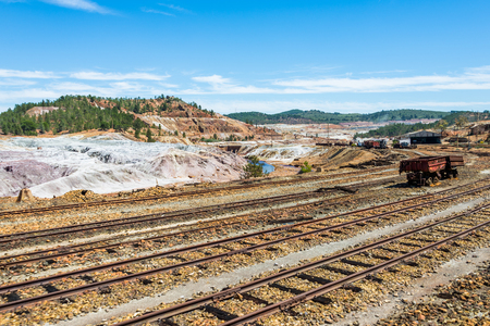 Minas of Río Tinto (formerly British mining), Andalusia, Spain. Stock Photo