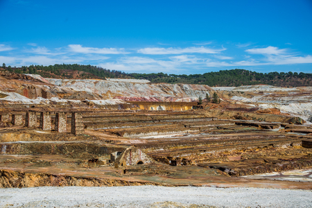 Minas of Río Tinto (formerly British mining), Andalusia, Spain. Stock Photo - 92716255