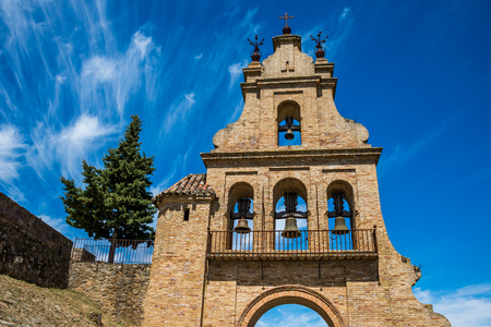 portico of the Aracena's Prioral church, Huelva, Andalusia, Spain. Stock Photo - 92528975