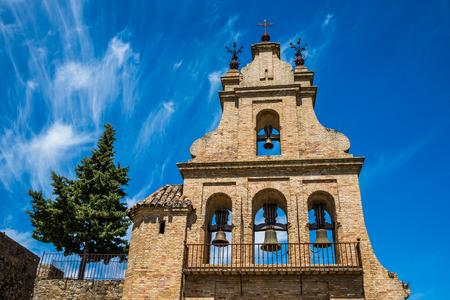 portico of the Aracena's Prioral church, Huelva, Andalusia, Spain. Stock Photo - 92353130