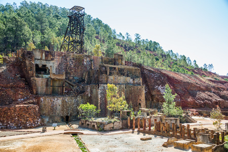 Minas of Río Tinto (formerly British mining), Andalusia, Spain. Standard-Bild