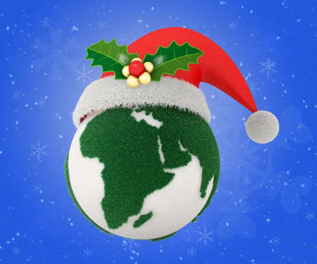 Let's celebrate Christmas and Happy new year with eco world Banque d'images