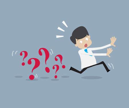 runing: Negocios que se ejecuta lejos de un problema, escapar o eliminar desde el concepto de obst�culos