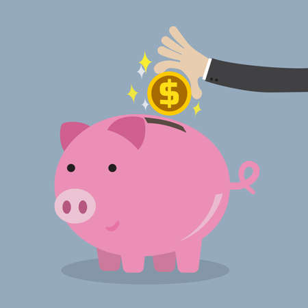 Saving money for business concept