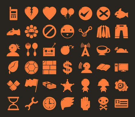 miscellaneous symbol icon set no frame for web and mobile #01