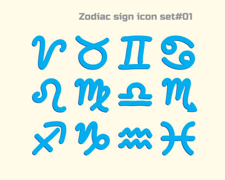 01: horoscope sign icon  for web and mobile  set 01 Illustration