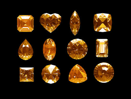 Group of imperial topaz with clipping path photo