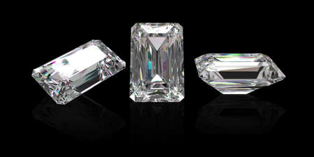 karat: rectangle  diamond with clipping path Stock Photo