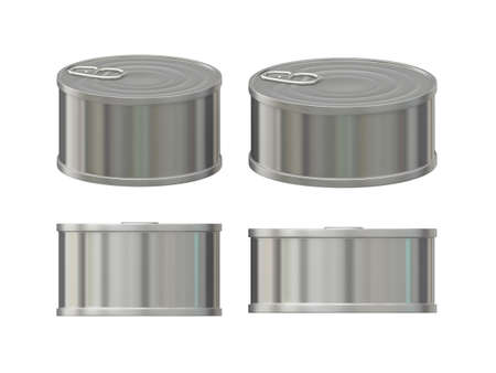 General can  packaging  with white blank label  for food product like tuna ,  sardine or pet food, ready  for  your design or artwork, clipping path included  photo