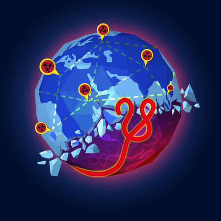 outbreak: Flat style of Ebola Virus outbreak concept Illustration