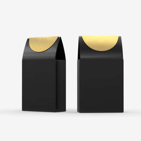 Black paper food box packaging