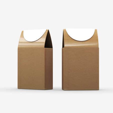 Brown paper food box packaging  版權商用圖片