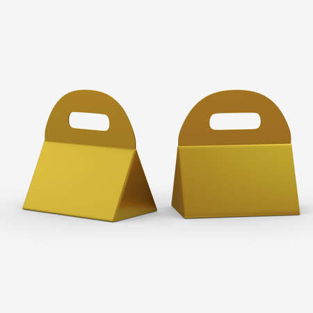 packaging: Golden triangle box with handle