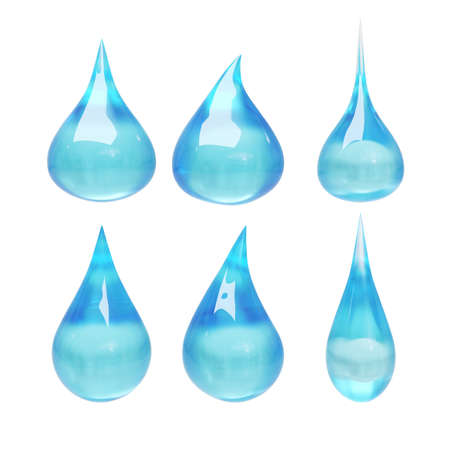 trickle: Set of water drop with clipping path