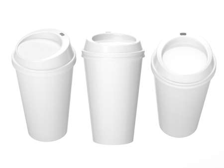 General  cup packaging  for coffee or tea with clipping path, template for your design or artwork Reklamní fotografie