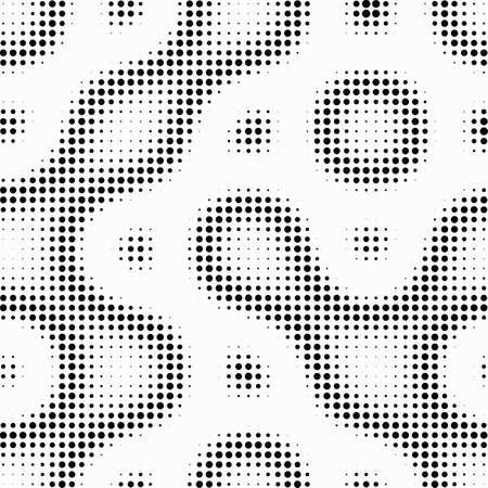 Seamless  abstract halftone dot vector Stock Illustratie