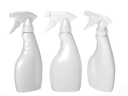 Blank spray bottle packaging with clipping path for liquid product like dish washing or ironing starch . ready for Your Design and artwork. Banque d'images