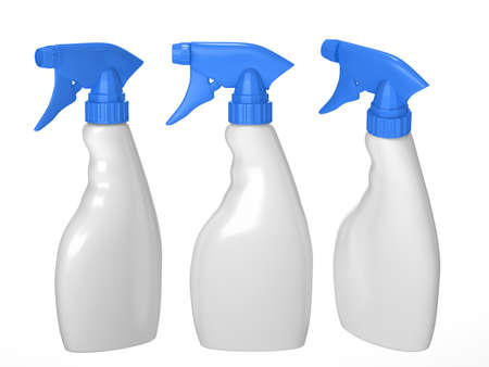 Blank spray bottle packaging with clipping path for liquid product like dish washing or ironing starch . ready for Your Design and artwork. 版權商用圖片 - 54414088