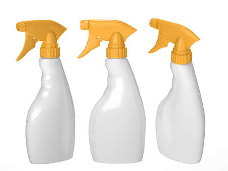 Blank spray bottle packaging with clipping path for liquid product like dish washing or ironing starch . ready for Your Design and artwork. Reklamní fotografie