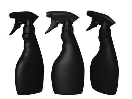 envases plasticos: envasado en blanco botella de spray con trazado de recorte para el producto líquido como el lavado de platos o almidón de planchar. listo para su diseño y obras de arte.
