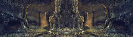 ancient spider den illustration painting