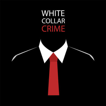 ホワイト カラー犯罪  イラスト・ベクター素材