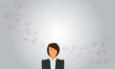 女性実業家: 彼のビジネスのビジネス女性の事とか