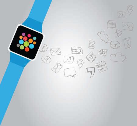 smartly: smartwatch connectivity Illustration