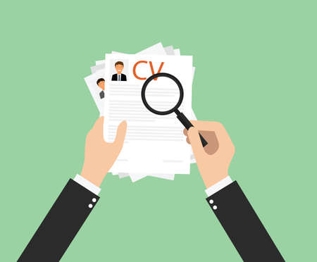 choose new employee in recruitment process Illustration