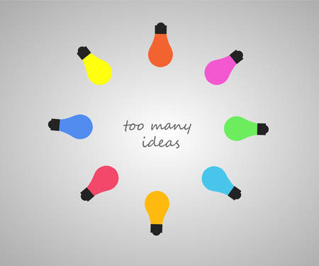 too many: getting too many ideas