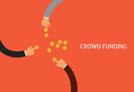 crowdfunding or collecting money from people to support a great ideas